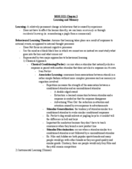 Management and Organizational Studies 3321F/G Chapter 3: CHAPTER RECAP