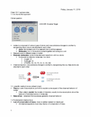 CHEM 130 Lecture Notes - Lecture 2: Bromine, Chemical Reaction, Hydrogen Peroxide
