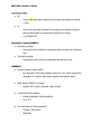 IMED2003 Study Guide - Midterm Guide: Helicobacter Pylori, Peptic Ulcer, Electronic Body Music