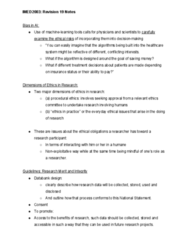 IMED2003 Midterm: Revision 19 Notes