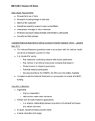 IMED2003 Midterm: Revision 18 Notes