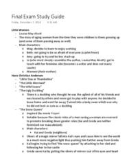 ENGL 216 Final: Final Exam Study Guide