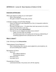 ANTHRCUL 101 Lecture Notes - Lecture 3: Cultural Relativism, Enculturation, Ethnocentrism