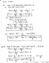 MATH 2B Lecture 1: Antiderivatives