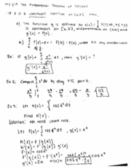 MATH 2B Lecture 4: Fundamental Theorem of Calculus