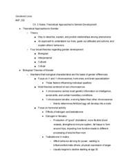 ANP 220 Chapter 2: Ch. 2 Notes-Theoretical Approaches to Gender Development