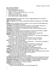 BIOLOGY 171 Chapter Notes - Chapter 11: Sister Chromatids, Homologous Chromosome, Somatic Cell