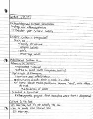 ANTHRCUL 101 Lecture 4: ANTHRCUL 101 Lecture : Lecture 1/14