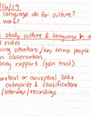 ANTHRCUL 101 Lecture 5: ANTHRCUL 101 Lecture : Lecture 1/16