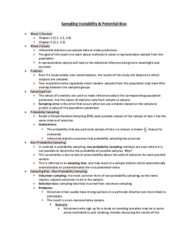 STAB23H3 Lecture Notes - Lecture 2: Nonprobability Sampling, Simple Random Sample, Smoking Cessation