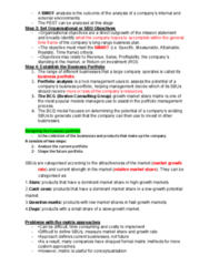 MGMT100 Chapter Notes - Chapter 5A: Boston Consulting Group, Swot Analysis, Marketing Mix