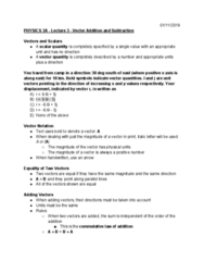 PHYSICS 3A Lecture Notes - Lecture 3: Commutative Property