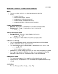 PHYSICS 3A Lecture Notes - Lecture 4: One Direction, Quadratic Equation, Farad