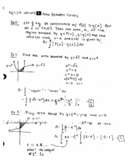 MATH 2B Lecture 8: Area Between Curves
