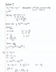 MATH 256 Lecture 4: MATH 256 L4