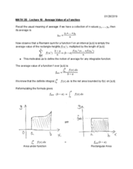 MATH 2B Lecture Notes - Lecture 10: Riemann Sum
