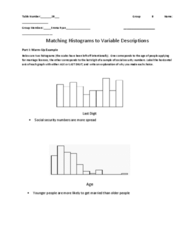 MATH 10041 Chapter 2: Matching Histograms