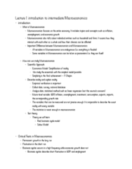 ECON 402 Lecture Notes - Lecture 1: Real Business-Cycle Theory, Price Ceiling, Aggregate Demand