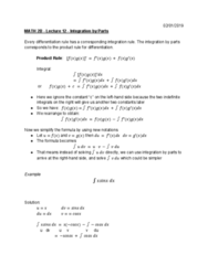 MATH 2B Lecture Notes - Lecture 12: Product Rule