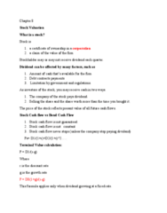 FIN 302 Lecture Notes - Lecture 8: Cash Flow, Growth Stock, Proxy Voting