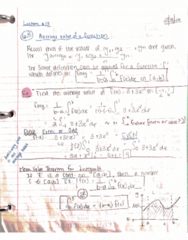 MATH 2B Lecture 13: 44370-Math 2B Lecture 13 Notes-Average of the Function & Integration by Parts