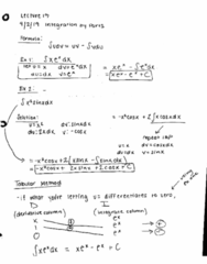 MATH 2B Lecture 13: Integration by Parts