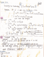 MATH 2B Lecture 14: 44370-Math 2B Lecture 14 Notes-Strategies Evaluating the Integral