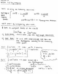 MATH 2B Lecture 14: Trig Integrals