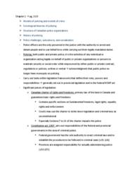 SOC 3750 Chapter Notes - Chapter 1: Social Contract, Ontario Provincial Police, Sûreté Du Québec