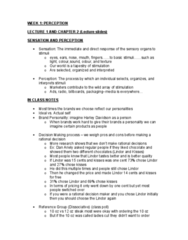 Management and Organizational Studies 3321F/G Lecture Notes - Lecture 1: Dan Ariely, Reference Group, Sensation (Band)