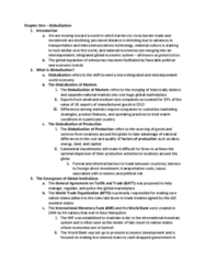GEB 3375 Chapter Notes - Chapter 1: International Monetary Fund, World Trade Organization, World Economy