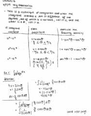 MATH 2B Lecture 16: Trig Substitution