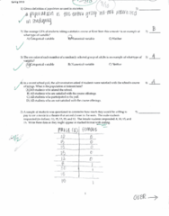 MATH 10041 Study Guide - Quiz Guide: Categorical Variable, Asteroid Family