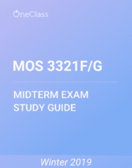 Management and Organizational Studies 3321F/G Study Guide - Winter 2019, Comprehensive Midterm Notes - Memory, Citizens Band Radio, Vase