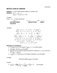 MATH 2B Lecture 18: Sequences